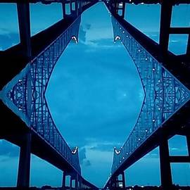 Mississippi River Bridge Crescent City Connention Abstract In New Orleans Louisiana by Michael Hoard