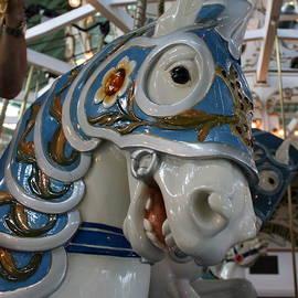 Crescent Park carousel horse by Annie Babineau