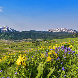Crested Butte Overlook by Lorraine Baum
