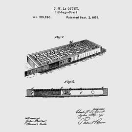 Cribbage Board 1879 Patent Art Transparent by Prior Art Design