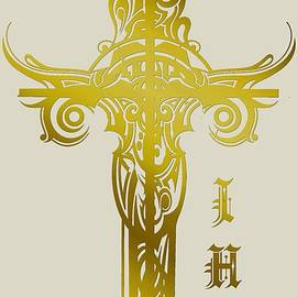 Cross Ihs Gold by Robert G Kernodle