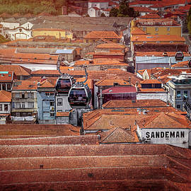 Crossing The Red Rooftops of Porto Portugal  - Carol Japp