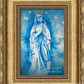 Patricia Ducher - Crowned Virgin of Lourdes Framed