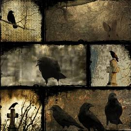 Gothicrow Images - Crows And One Rabbit