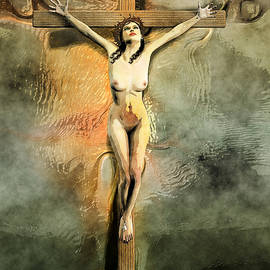 Quim Abella - Crucified Woman Art