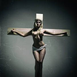 Ramon Martinez - Crucified woman on tettered cover