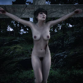 Ramon Martinez - Crucifix in Dark forest