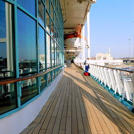 Cruise Ship Deck 5 by Arlane Crump