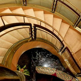 Cruise Ship Interiors - Palladium Staircase by Arlane Crump