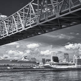 Cruise Ships and NOLA Skyline by Jerry Fornarotto