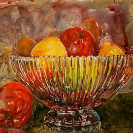 Shirley Sykes Bracken - Crystal Bowl of Fruit