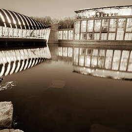 Gregory Ballos - Crystal Bridges Art Museum Reflections - Sepia Edition