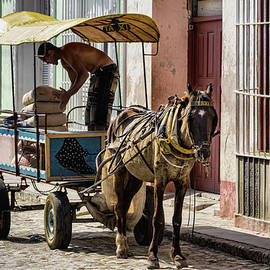 Cubano Taxi color by Dawn Currie