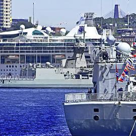 Miroslava Jurcik - Cruise And Navy Ships In Sydney Harbour