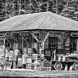 Cummings Railroad Depot, Luggage by Betty Denise