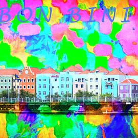 Curacao Bon Bini Large Canvas Art, Canvas Print, Large Art, Large Wall Decor, Home Decor, Photograph by David Millenheft