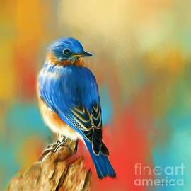 Curious Bluebird by Tina LeCour