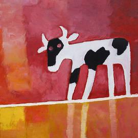 Curious Calf by Lutz Baar