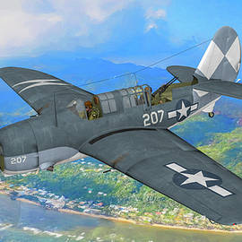 Curtiss SB2C Helldiver in Oil