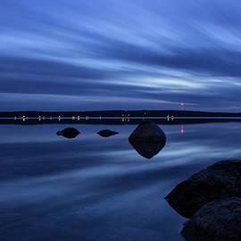 Cut River dam blue hour by Ron Wiltse