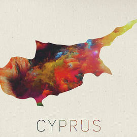 Design Turnpike - Cyprus Watercolor Map