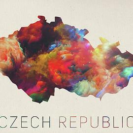 Design Turnpike - Czech Republic Watercolor Map