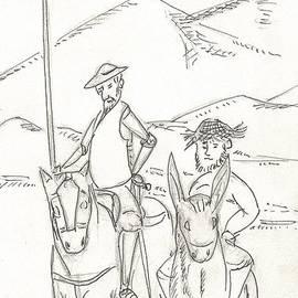 D Quixote Y Sancho Panza by Gabriel Coelho