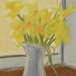 Daffodils In Jug by Marina Garrison