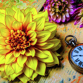 Dahlia And Pocket Watch - Garry Gay
