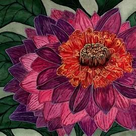 Purple Dahlia Flower by Michael Panno