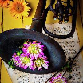 Dahlias And Old Horn - Garry Gay