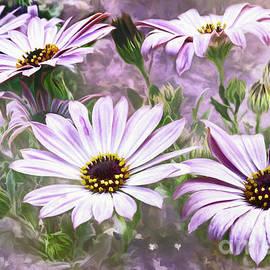 Jean OKeeffe Macro Abundance Art - Daisies
