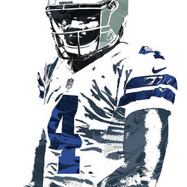 Joe Hamilton - Dak Prescott DALLAS COWBOYS PIXEL ART 4