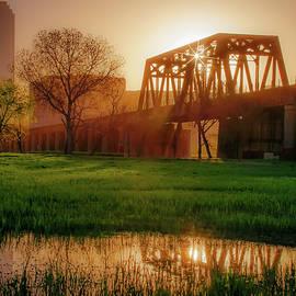 Gregory Ballos - Dallas Golden Morning Light - Trinity Skyline Trail