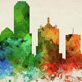 Dallas Skyline Panorama USTXDA-PA03 - Aged Pixel