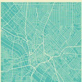 DALLAS STREET MAP - Jazzberry Blue