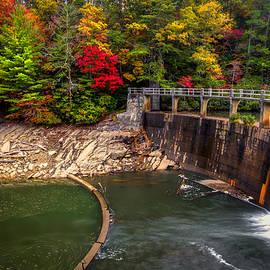 Dam at Cherokee Lake by Debra and Dave Vanderlaan
