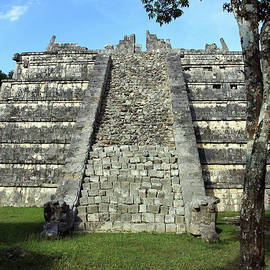 Damaged Steps At Chichen Itza by Jennifer Robin