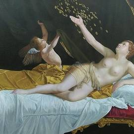 Danae and the Shower of Gold 1623 by Orazio Gentileschi by William Roberts