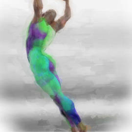 Dancer in watercolours by Quim Abella