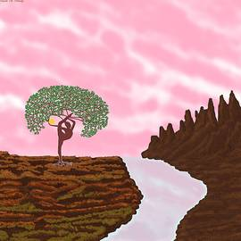 Dancing Tree with Pink Sky by Chante Moody
