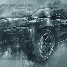 Dark Grunge Dodge Viper by Ray Van Gundy