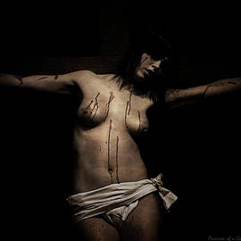 Ramon Martinez - Dark portrait of a female Jesus III
