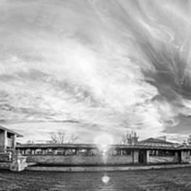 Darwin Martin House - Spring Sunset - BW by Chris Bordeleau