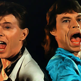 David Bowie and Mick Jagger by Sergey Lukashin