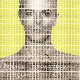 David Bowie Mug Shot - Yellow by Gary Hogben