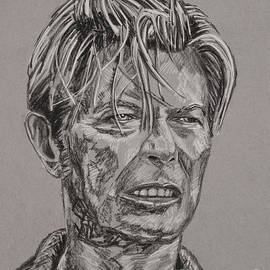 David Bowie Portrait by Robert Yaeger