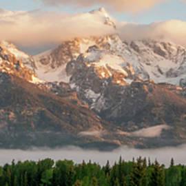 Dawn At Grand Teton National Park Panorama Wyoming by Brian Harig