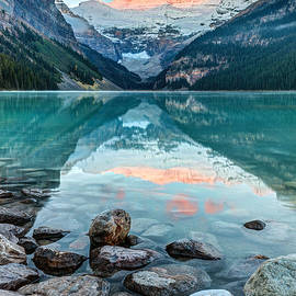 Dawn at Lake Louise by Pierre Leclerc Photography