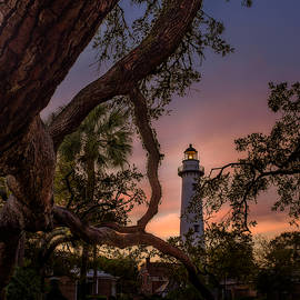 Dawn At Saint Simons Lighthouse by Chris Bordeleau